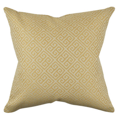 Vesper Lane Greek Fret Woven Throw Pillow