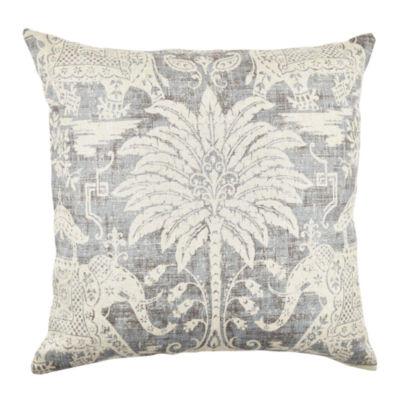 Vesper Lane Grey Elephant Linen Throw Pillow
