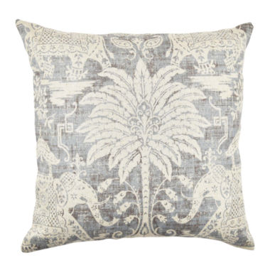 Vesper Lane Grey Elephant Linen Throw Pillow