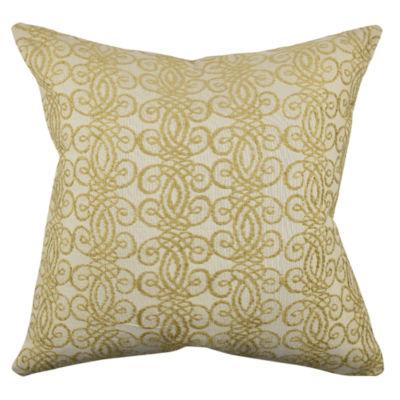 Vesper Lane Intricate Gold Damask Throw Pillow