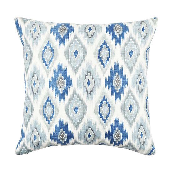 Vesper Lane Light Blue Aztec Design Throw Pillow