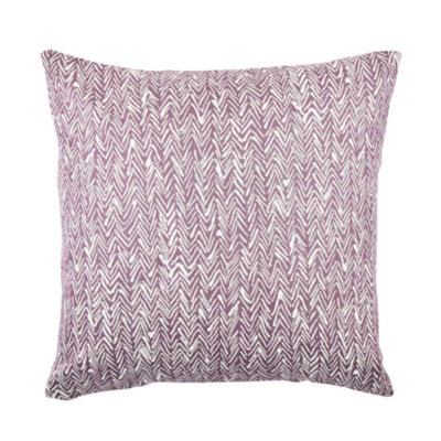 Vesper Lane Modern Abstract Purple Pine Throw Pillow