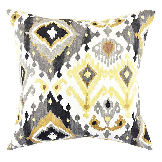Vesper Lane Multicolor Ikat Designer Pillow