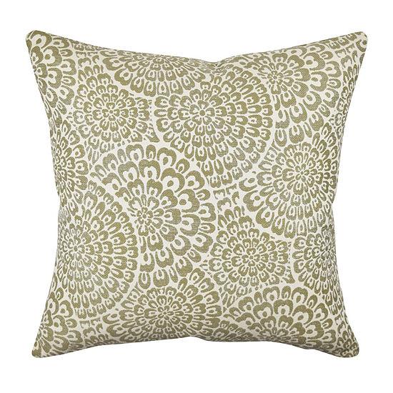 Vesper Lane Neutral Dandelion Designer Throw Pillow