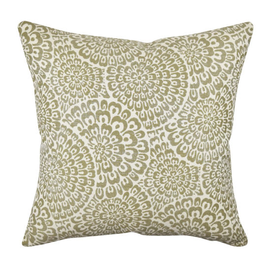 Vesper Lane Neutral Dandelion Designer Throw Pillow