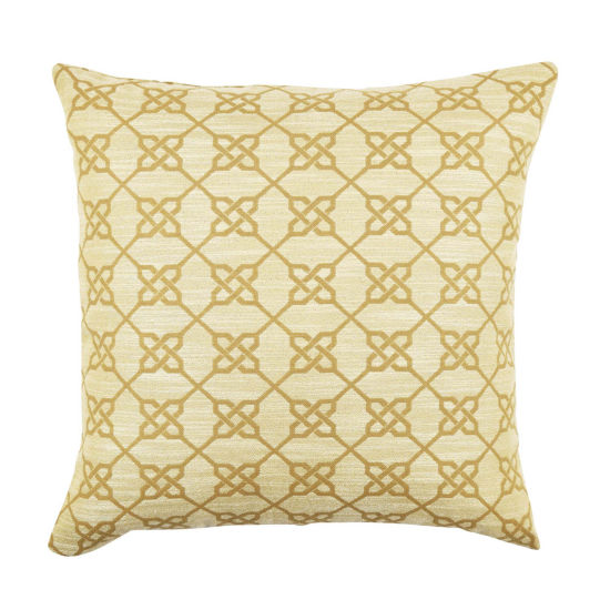 Vesper Lane Neutral Ogee Pattern Throw Pillow