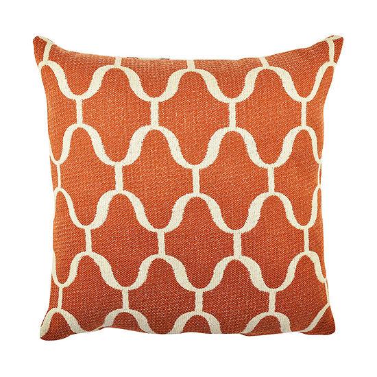 Vesper Lane Orange Moroccan Inspired Throw Pillow