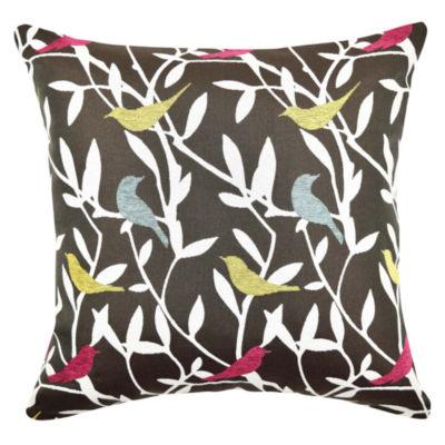 Vesper Lane Playful Birds Designer Throw Pillow