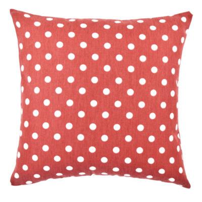 Vesper Lane Polka Dot Printed Cotton Throw Pillow