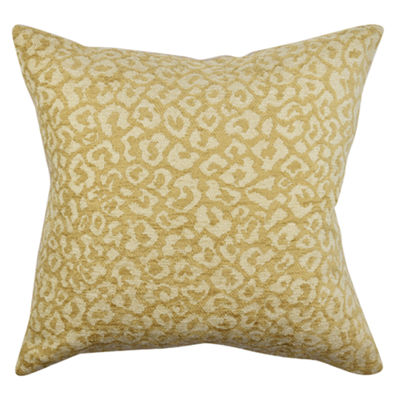 Vesper Lane Tan Abstract Animal Print Throw Pillow