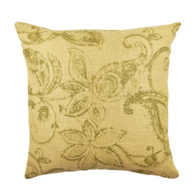 Vesper Lane Tan Rustic Floral Designer Throw Pillow