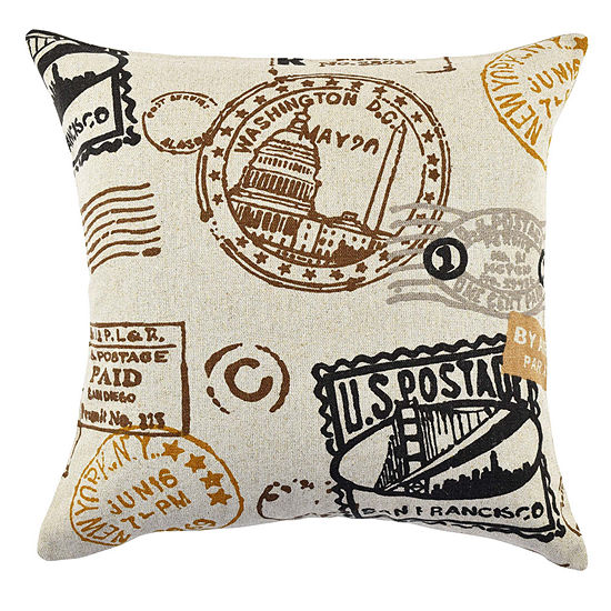 Vesper Lane Travel Typography Linen Throw Pillow