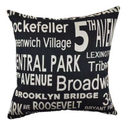 Vesper Lane Urban New York Typography Throw Pillow