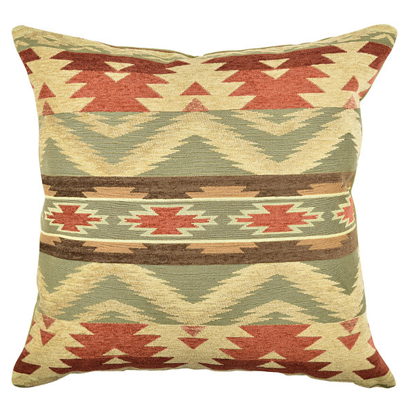 Vesper Lane Warm Tones Aztec Inspired Throw Pillow