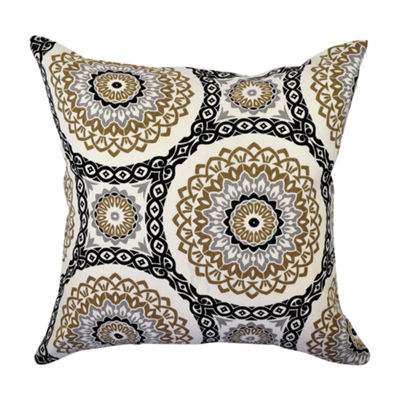 Warm Circular Aboriginal Throw Pillow