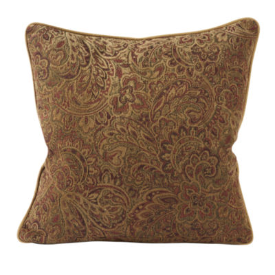 Jcpenney Red Decorative Pillows : Warm Red Paisley Designer Throw Pillow - JCPenney