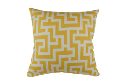 Yellow Geometric Outdoor Pillow
