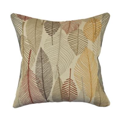 Vesper Lane Rustic Leaves Woven Throw Pillow