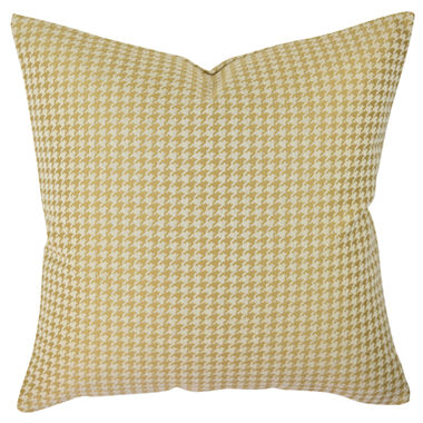 Jcpenney Gold Decorative Pillows : Gold Houndstooth Woven Throw Pillow - JCPenney