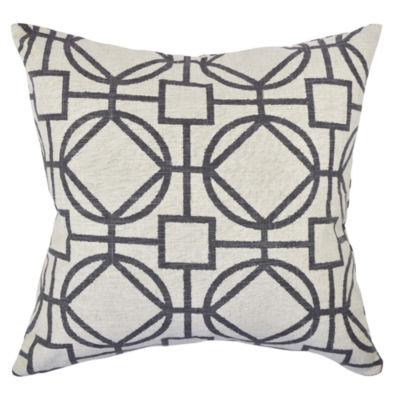 Vesper Lane  Circle Link Design Throw Pillow