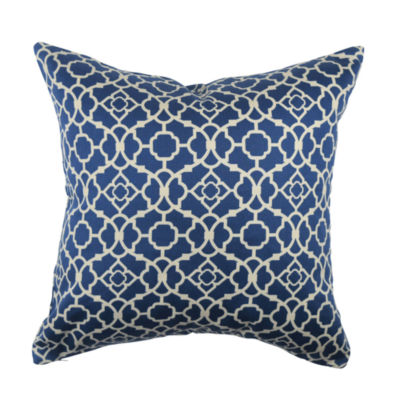 Vesper Lane Lovely Blue Quatrefoil Throw Pillow - JCPenney