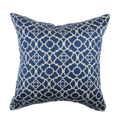 Vesper Lane Lovely Blue Quatrefoil Throw Pillow