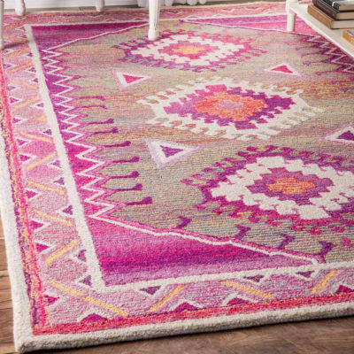 nuLoom Hand Tufted Tribal Diamond Elza Rug