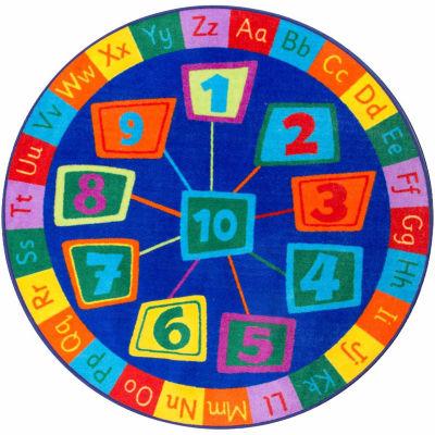 nuLoom Number Circles Rug