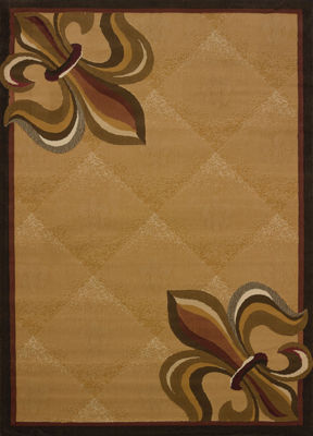 United Weavers China Garden Collection Corner Fleur De Lys Rectangular Rug