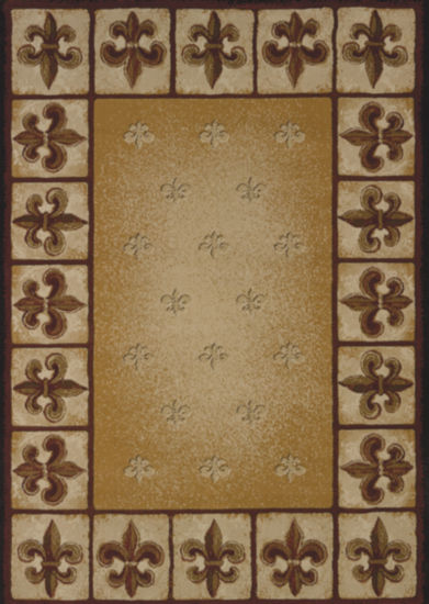 United Weavers China Garden Collection Fleur De Lys Rectangular Rug