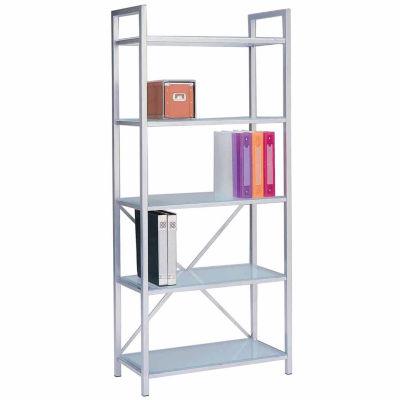 Bookshelf in Glass and Powder Coating Frame