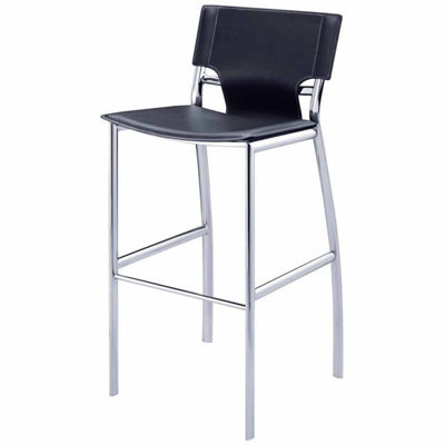 Bar Height Stool with Chrome Legs