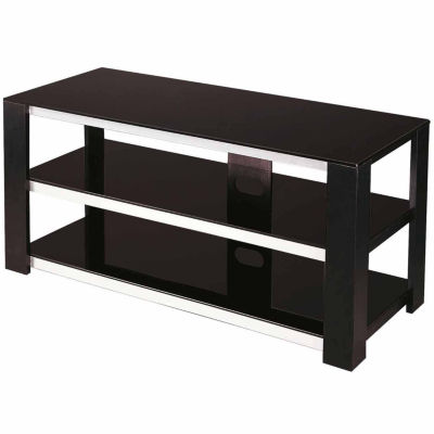 Black Tempered Glass with TV Stand Hold Up To 42 Inch TV