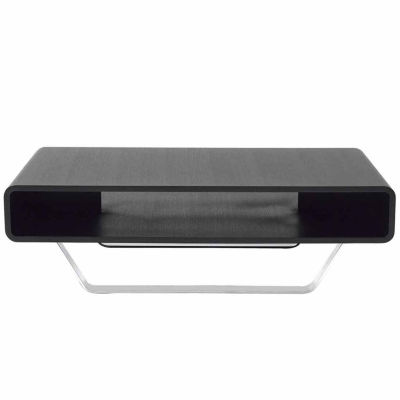 Rectangular Coffee Table With Stainless Steel Legs