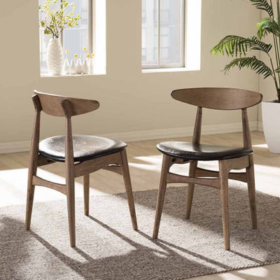 Baxton Studio Set of 2 Flora Side Chairs