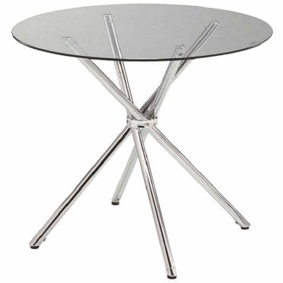 Round Clear Tempered Glass Dining Table