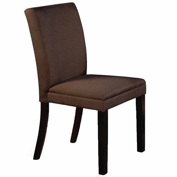 Microfabric Dining Chair With Wooden Leg