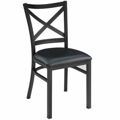 Side Chair With Black Metal Frame