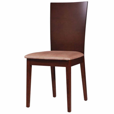 Wooden Dining Chair with Fabric Cushion