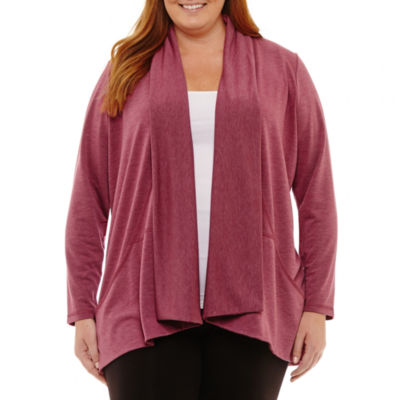 St. John's Bay Long Sleeve Cozy with Pockets-Plus
