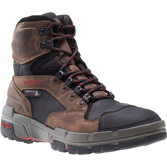 Wolverine Mens Durashocks Waterproof Slip Resistant Composite Toe Lace-up Work Boots