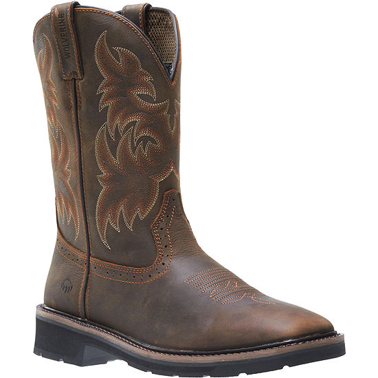 Wolverine Mens Rancher Slip Resistant Pull-on Work Boots