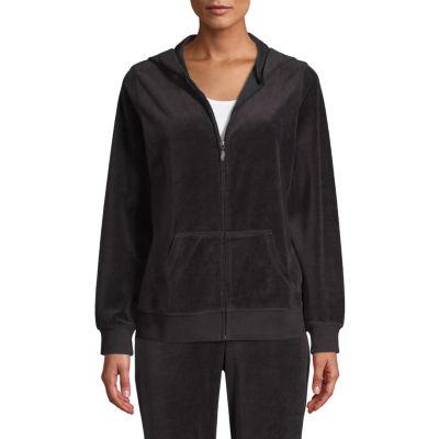 St. John's Bay Active Long Sleeve Velour Jacket - Tall
