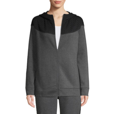 St. John's Bay Active Quilted Texture Mix Jacket - Tall