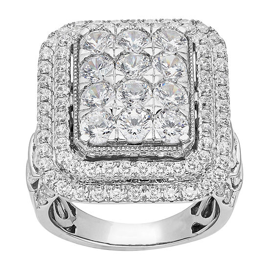Grown With Love Womens 5 CT. T.W. Lab Grown Diamond 14K White Gold Cocktail Ring