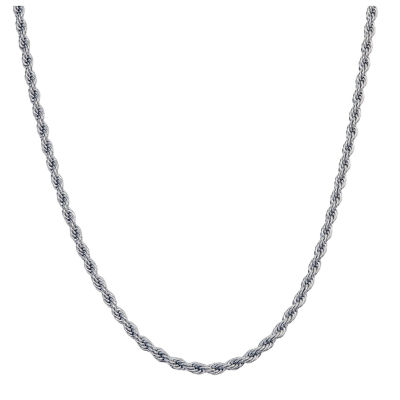 Stainless Steel 24 Inch Solid Rope Chain Necklace