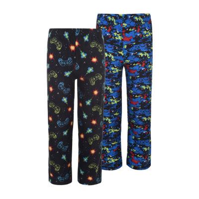Hanes Hanes Boys 2 Pack Print Sleep Pants Boys Knit Pajama Pants