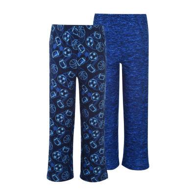 Hanes Hanes Boys 2 Pack Print Sleep Pants Knit Pajama Pants Boys