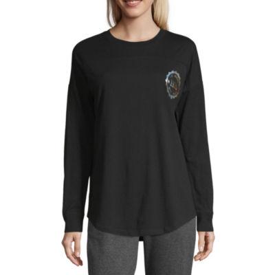 "Flirtitude Long Sleeve ""Los Angeles"" T-Shirt-Womens Juniors"