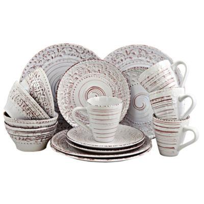 Elama Malibu Waves 16-Piece Dinnerware Set